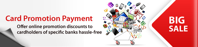 AsiaPay - PayDollar Card Promotion Payment - Offer online promotion discounts to cardholders of specific banks hassle-free
